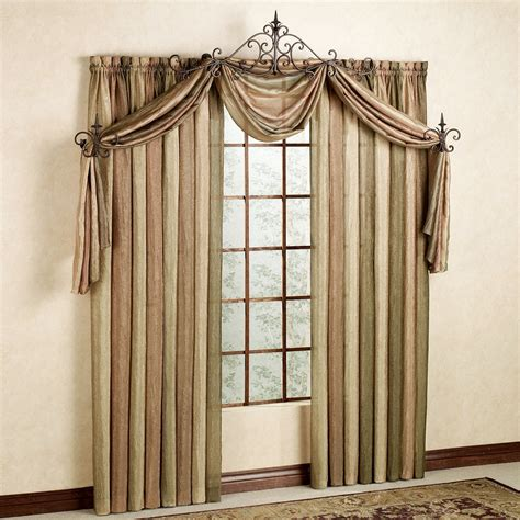 valance with sheer curtains ombre semi sheer scarf valance and window treatments