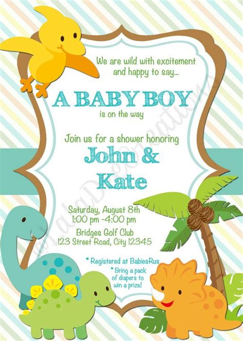 Baby Shower Invitation Templates Dinosaur Baby Shower Invitations Easytygermke Com Invitation Dinosaur Baby Shower Invitation Template