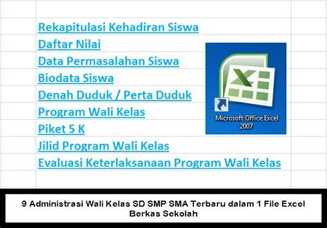 format biodata siswa sd 9 administrasi wali kelas sd smp sma terbaru dalam 1 file