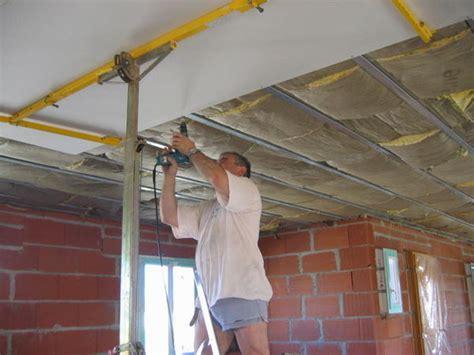 poser du placo au plafond schema pose placo plafond