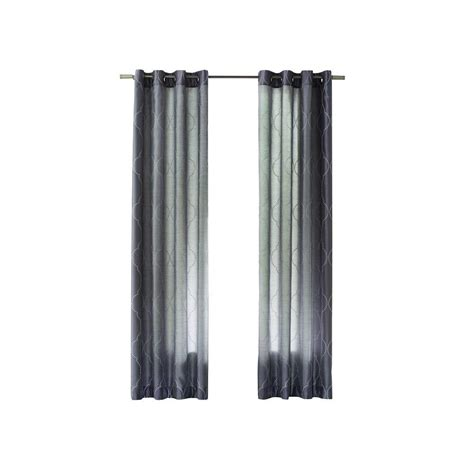 hourglass curtains home decorators collection gray hourglass embroidered