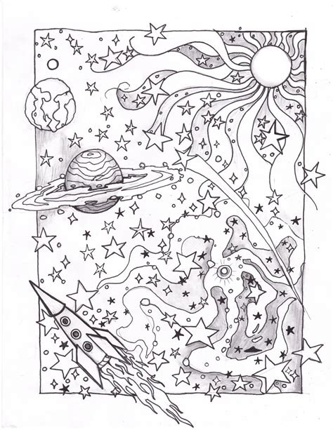 Galerry coloring pages space