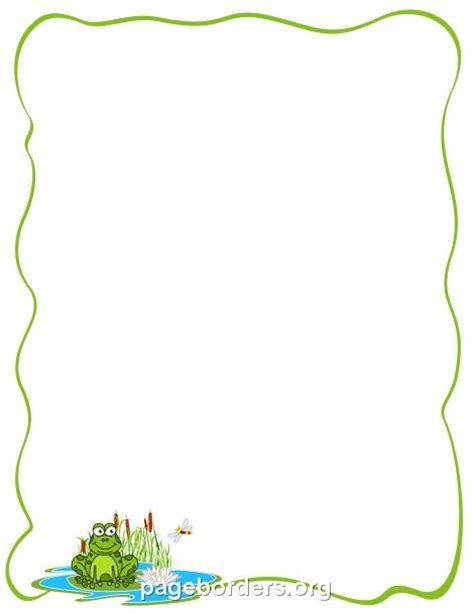 frog border writing paper 34 best kaders images on page borders