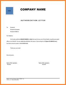 Authorization Letter Of Company 9 Company Authorization Letter Sle Company Letterhead