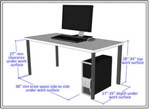 Computer Desk Length Width Computer Lab Accessibility Guidelines Accessible Technology
