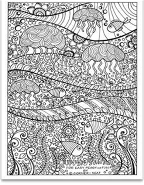 jellyfish coloring page for adults 1000 images about coloring pages on pinterest dover