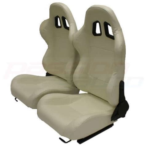 reclining bucket seat luxury cream pvc reclining bucket car seats sports car
