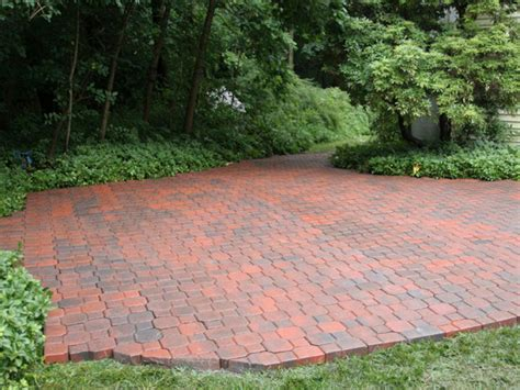 easy brick patio how to build a brick patio hgtv