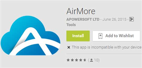 airmore android app to manage data apps wirelessly via pc