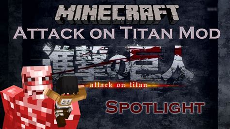 mod game attack on titan or hack 1 5 x minecraft attack on titan mod spotlight shingeki