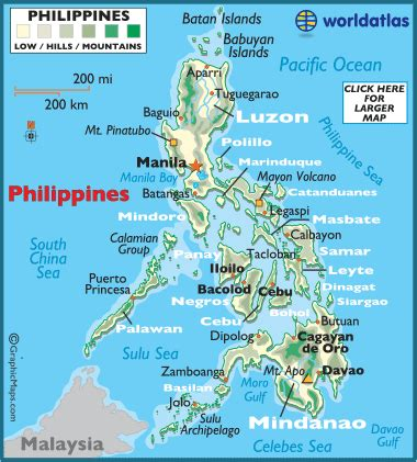 printable map philippines philippines maps including outline and topographical maps