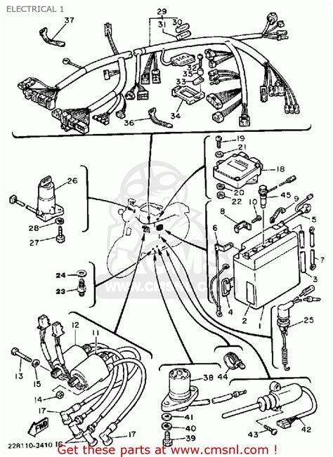 yamaha xj750 maxim 1983 d usa electrical 1 schematic