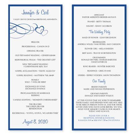 resume 53 inspirational free wedding program templates high