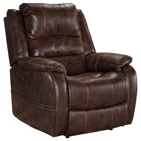 recliner headrest ashley signature design barling faux leather power