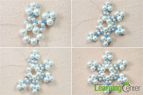 how to make a beaded snowflake snowflake beaded ornaments images