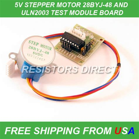 resistor in series with stepper motor stepper motor 28byj 48 test module board uln2003 5 line 4 phase arduino ebay