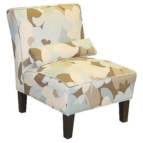 floral print accent chairs armless accent chair with abstract floral print upholstery