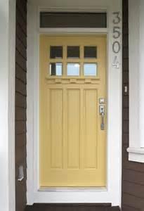 Door yellow front door painted front door yellow doors door handle