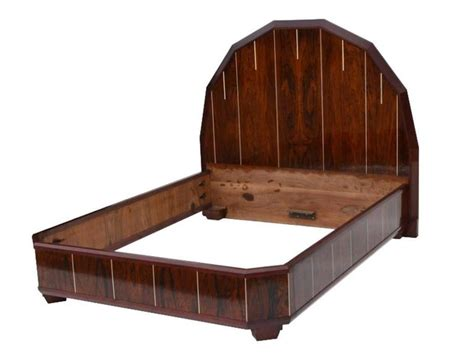 art deco beds art deco bed made of palisanderwood for sale at 1stdibs