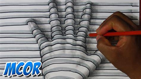 ilusiones opticas faciles de hacer a mano como dibujar una mano en 3d facil y rapido youtube