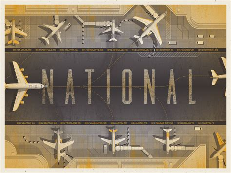 the national the national north american tour poster by dkng studios