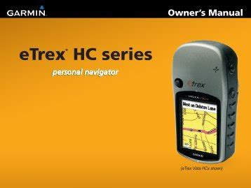 User Manual Garmin Etrex Vista Cx My Pdf Manuals