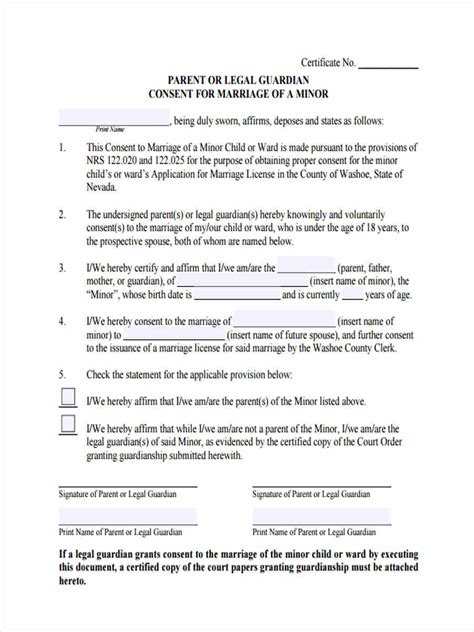 9 parental consent forms free sample example format