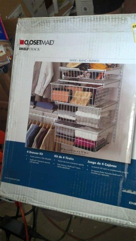 closetmaid 4 drawer kit closetmaid 2815 shelftrack 4 drawer kit pppab avi