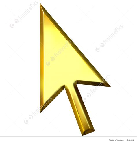 Get The Golden Touch With X Pointer by 3d Golden Mouse Pointer Illustration