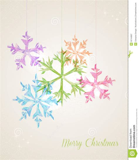 how to make a snowflake card merry hanging snowflake greeting card stock