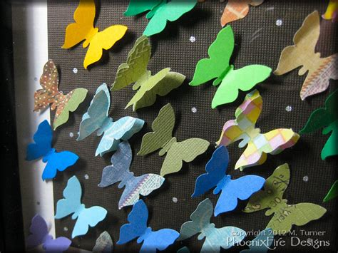 How To Make Paper Butterfly Wings - butterfly wall 187 phoenixfire designs the
