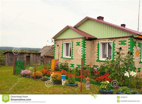 la casa russia casa russa tipica villaggio nella cagna fotografia