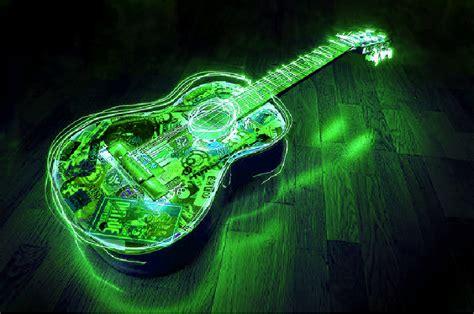wallpaper green guitar michael jackson guitar download foto gambar wallpaper