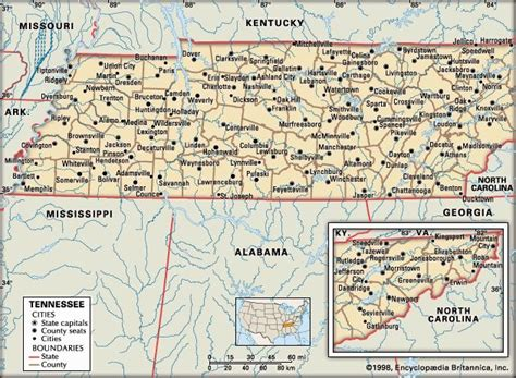 map of tennessee with cities tennessee history geography state united states