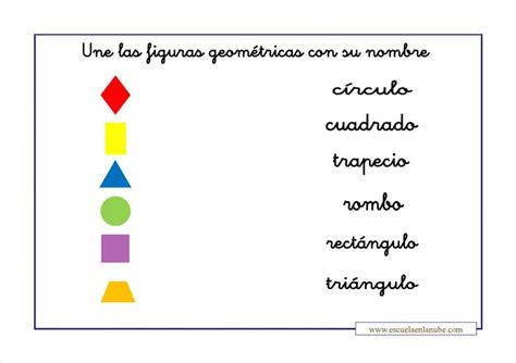 figuras geometricas segundo de primaria trabajar las formas geom 233 tricas con estas fichas para primaria