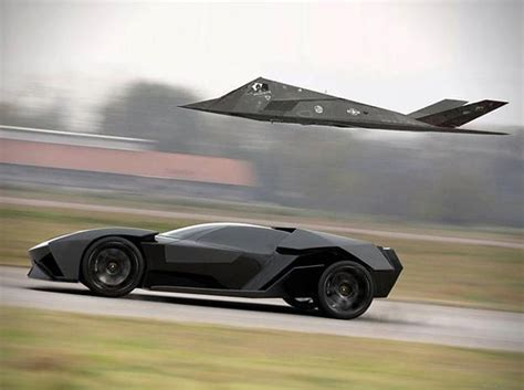 Lamborghini Vs Jet Lamborghini Ankonian Concept Car Vs Jet Awesome Cars
