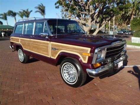 1991 Jeep Grand Purchase Used 1991 Jeep Grand Wagoneer Limited 4x4 80k