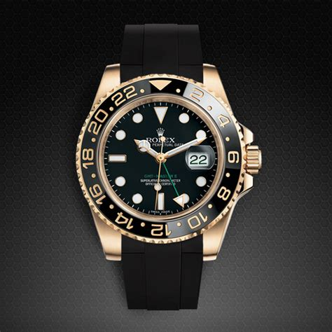 Strap for Rolex GMT Master II CERAMIC   Classic Series   Rubber B Watch Bands & Straps