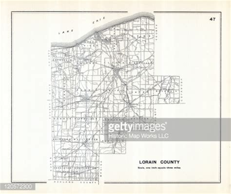 Lorain County Ohio Search Ohio 1910 Lorain County Ohio State Highway Maps Stock Illustration Getty Images