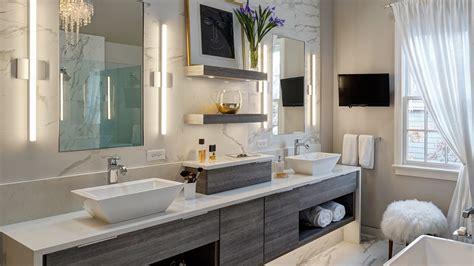 chic contemporary master bath redesign glen ellyn