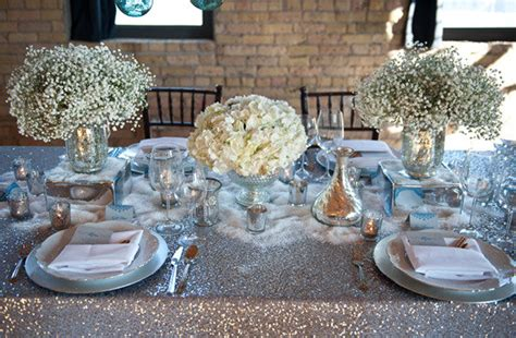 setting a beautiful table white and silver wedding the merry