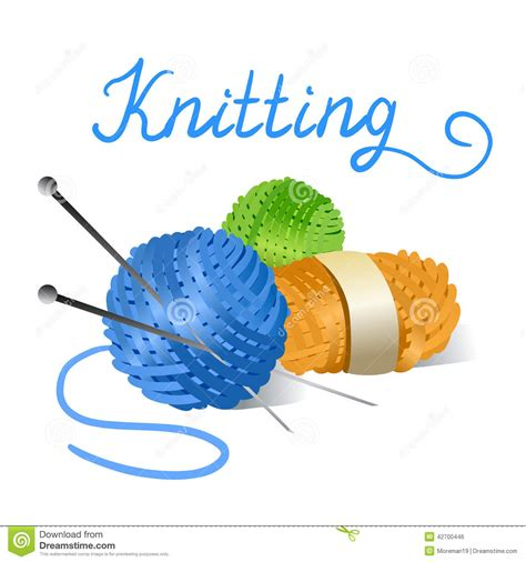 knitting clip knitted itself clipart clipground