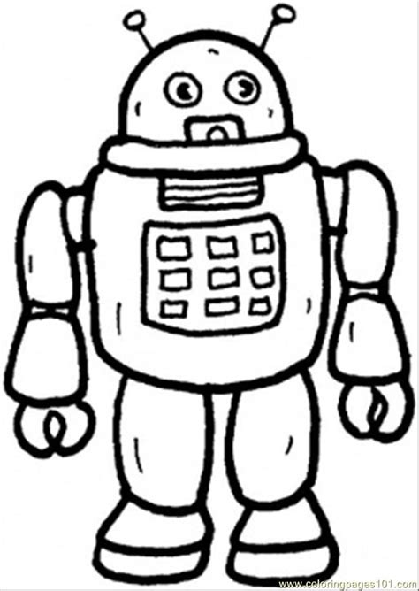 Coloring Page Robot free printable robot coloring pages for