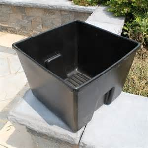 teak planters estate 22 1 2 in plastic liner