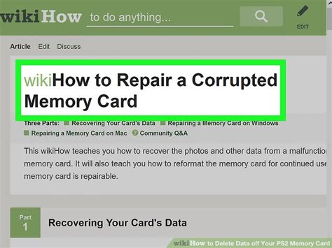 how to make your sd card your memory how to delete data your ps2 memory card 13 steps