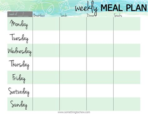 Galerry free printable diet and exercise plan
