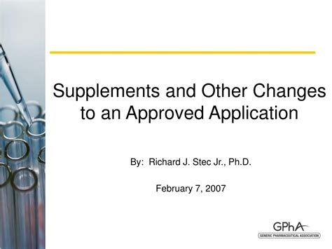 supplement j approval ppt supplements and other changes to an approved