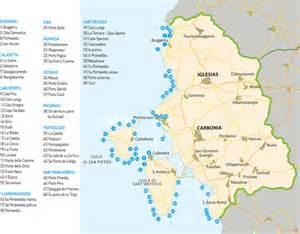 le e cartina delle spiagge sulcis iglesiente