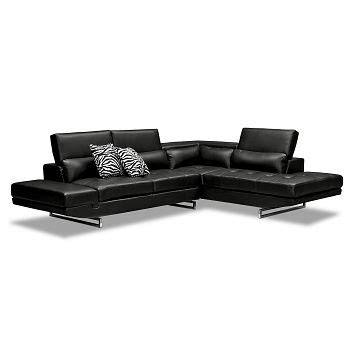 madrid 2 piece leather sectional american signature furniture madrid ii leather 2 pc