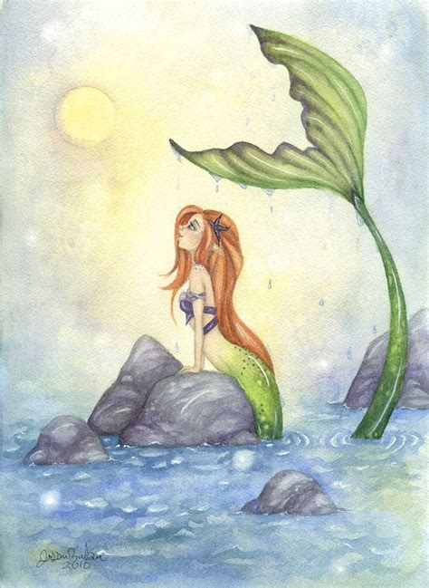 5x7 fantasy fine art print mermaid dreaming 10 etsy products love